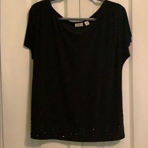 Short sleeve dress blouse
